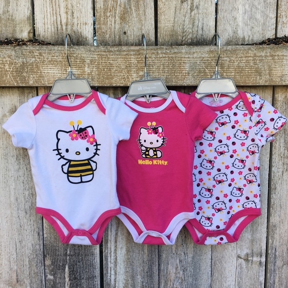 3a7eba24a Hello Kitty One Pieces | Bee Onesie 3pk | Poshmark